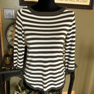 Chico's Lightweight Striped Sweater Size Chico's 0